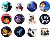 FRANK SINATRA Awesome Quality Lot 12 New Pins Pinback Buttons Badge 3.2cm