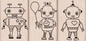Hero Arts Woodblock Stamp, Set Robot Trio