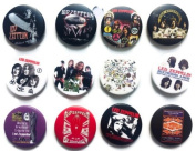 LED ZEPPELIN Awesome Quality Lot 12 New Pins Pinbacks Buttons Badge 3.2cm