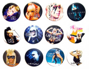 LADY GAGA (1) Awesome Quality Lot 12 New Pins Pinback Buttons Badge 3.2cm