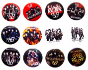 BLACK VEIL BRIDES Awesome Quality Lot 12 New Pins Pinback Button Badge 3.2cm