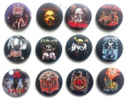 SLAYER (2) Tom Araya Awesome Quality Lot 12 New Pins Pinback Buttons Badge 3.2cm