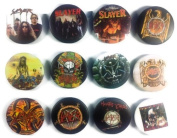 SLAYER (1) Tom Araya Awesome Quality Lot 12 New Pins Pinback Buttons Badge 3.2cm
