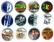 SKA Jamaica Awesome Quality Lot of 12 New Pins Pinbacks Buttons Badge 3.2cm