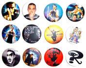 ROBBIE WILLIAMS (1) Awesome Quality Lot 12 New Pin Pinback Button Badge 3.2cm