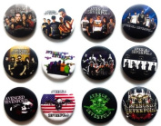 AVENGED SEVENFOLD (1) Awesome Quality Lot 12 New Pins Pinback Button Badge 3.2cm