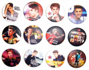 JUSTIN BIEBER (2) Awesome Quality Lot 12 New Pins Pinback Buttons Badge 3.2cm