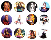 Avril Lavigne (2) Awesome Quality Lot 12 New Pins Pinback Button Badge 3.2cm