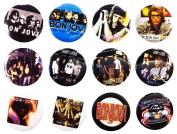 BON JOVI Jon David Awesome Quality Lot 12 New Pin Pinback Button Badge 3.2cm