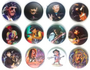 Carlos Santana (1) Awesome Quality Lot 12 New Pins Pinback Buttons Badge 3.2cm