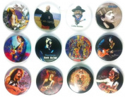 Carlos Santana (2) Awesome Quality Lot 12 New Pins Pinback Buttons Badge 3.2cm