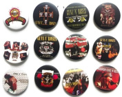 Guns N' Roses (3) Awesome Quality Lot 12 New Pin Pinback Button Badge 3.2cm