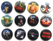 HEAVY METAL Awesome Quality Lot 12 New Pins Pinback Buttons Badge 3.2cm