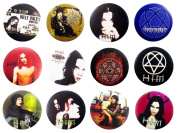 HIM Finnish (1) Awesome Quality Lot 12 New Pins Pinback Buttons Badge 3.2cm