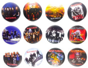 IRON MAIDEN (2) Awesome Quality Lot 12 New Pins Pinback Buttons Badge 3.2cm