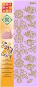 JEJE Produkt Fancy Work Stickers, 10cm by 23cm , Flowers