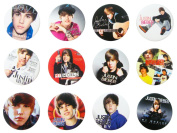 JUSTIN BIEBER (3) Awesome Quality Lot 12 New Pins Pinback Buttons Badge 3.2cm