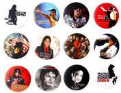 MICHAEL JACKSON MJ (1) Awesome Quality Lot 12 New Pin Pinback Button Badge 3.2cm