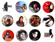 MICHAEL JACKSON MJ (1) Awesome Quality Lot 12 New Pin Pinback Button Badge 3.2cm