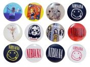 NIRVANA Kurt (4) Awesome Quality Lot 12 New Pins Pinback Button Badge 3.2cm