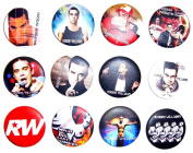 ROBBIE WILLIAMS (2) Awesome Quality Lot 12 New Pin Pinback Button Badge 3.2cm