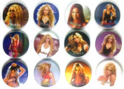 Shakira Isabel Awesome Quality Lot of 12 New Pins Pinback Button Badge 3.2cm