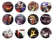 SYSTEM OF A DOWN (1) Awesome Quality Lot 12 New Pins Pinback Buttons Badge 3.2cm