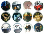 U2 Adam Clayton (1) Awesome Quality Lot 12 New Pins Pinback Buttons Badge 3.2cm