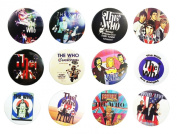 THE WHO UK (1) Awesome Quality Lot 12 New Pins Pinback Buttons Badge 3.2cm