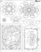 Ecstasy Crafts Clear Stamp -Angels And Ornaments