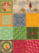 Dove of the East 12-Sheet Paper Sampler for Scrapbooking, India Journey, 30cm by 30cm