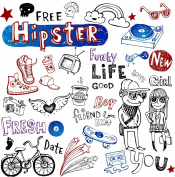 Hipster Life // Clear stamps pack (10cm x 18cm ) FLONZ