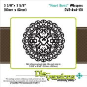 Die-Versions Whispers Heart Burst Scrapbooking Die Cuts