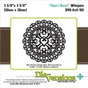 Die-Versions Whispers Heart Burst Scrapbooking Die Cuts