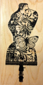 Daisy Dress Form Rubber Stamp Wood Mounted by Impression Obsession, Inc. D13083