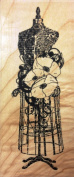 Poppy Dress Form Rubber Stamp Wood Mounted by Impression Obsession, Inc. E13087