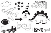Unity Stamps Unmounted Red Rubber Stamp Mr. Boy