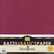 Bazzill Dotted Swiss Trio Multi-Pack 12X12 15/Pkg - Blissful-SunstRose/RomantcMauv/Blissful