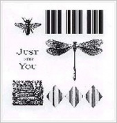 Anna Griffin Bees & Butterflies Rubber Stamp Set 5812sk