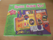 Spiral Album Kit - 60 Assortd Colour Pages and a Bound-in Envelope - Great Child Development Tool - similar to scrapbooking