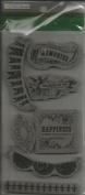 TPC Studio Rubber Cling Stamps - Decor Sentiments