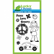 Lucky Lilypad Clear Stamp, Flower Power, 10cm by 15cm