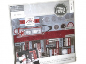 Scrapbook Page Kit Craft Kit Over 105 Pieces Go Team Sports Theme