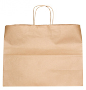 Premier Packaging AMZ-201525 12 Count Shoppers Gift Bag, 16 by 15cm by 32cm , Kraft
