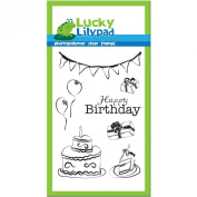 Lucky Lilypad Clear Stamps, Birthday Bash, 10cm by 15cm
