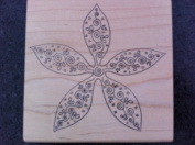 Starfish Flower Rubber Stamp
