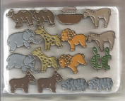 Noah's Ark and Animals Metal Brads for Scrapbooking