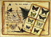 Page About Butterflies Wood Mounted Rubber Stamp
