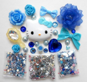 LOVEKITTY DIY 3D Kitty Cell Phone Case Resin Flat back Kawaii Cabochons Deco Kit / Set
