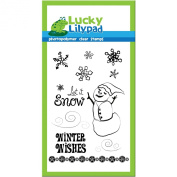 Lucky Lilypad Clear Stamp, Snowflake Frolic, 10cm by 15cm